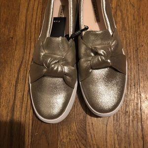 New Zara gold sneakers